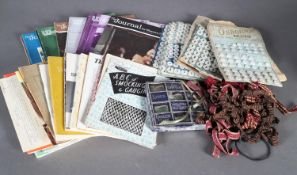 A quantity of textile related periodicals and pamphlets including the Journal for Weavers,
