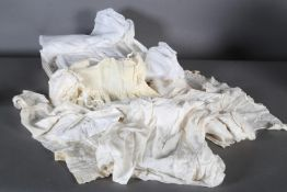 Edwardian and later baby's wear including silk cape, dress and bonnet, another dress and cape and