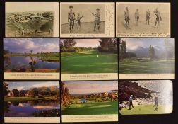 Collection of New Zealand and South African golf related postcards from the early 1900s onwards (