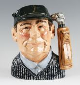 Royal Doulton 'Golfer' D6784 Character Jug special edition new colourway 1987 for John Sinclair,