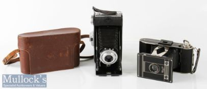 Agfa Billy Folding camera with leather case and strap plus another Agfa folding camera (2)