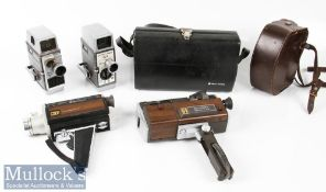 4x Bell & Howell Cine Cameras to include 624 8mm model, an Autoset II example, Filmosound 8 and