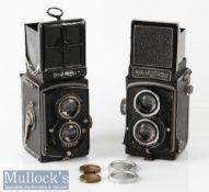Rolleiflex 287919 TLR camera Franke & Heidecke Zeiss/Tessar 1:3,8 f=75mm plus Rolleicord 935329
