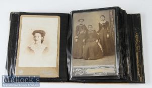 Album of Cabinet and Carte de Visite Cards c. Victorian to early 20th century incl photographers R