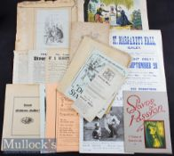 Selection of Assorted Paper Ephemera to include Pickwickian Illustrations laid to paperback, large