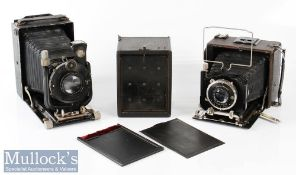 Voigtlander Berghell folding camera with 1:4,5 f=15cm No639273 Heliar lens, compur shutter, plus