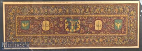 """India – Lithograph of 17th Century Carpet Print 10x29"""""""
