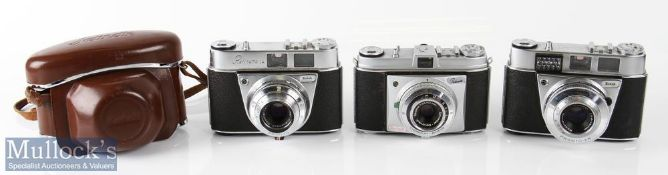 Kodak Retinette 1A and 1B cameras including 1A 56931 with Schneider 2,8/45mm lens and 1B 110305 with