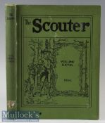 The Scouter 1934 Official bound volume of that years Scout magazines each with photographs, articles