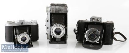 Agfa Isolette folding camera with Agnar 1:4,5/85, vario shutter, plus Agfa Record III camera with