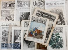 Assorted Victorian Comics / Magazines from 1859s TO 1890s consisting of; Boys of England 1870. (