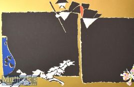Maqbool Fida Husain (1913-2011) 'Taoism' Signed Limited Edition Colour Serigraph 172/300 with