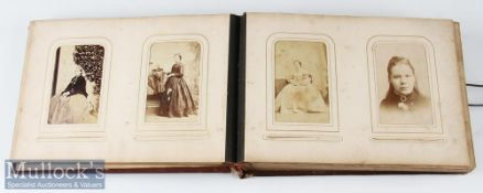 Album of Carte de Visite and Cabinet Cards c. Victorian / early 20th century, mostly portraits