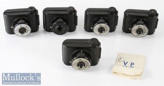 5x VP Twin bakelite Snapshot Cameras miniature sized includes 2x cases