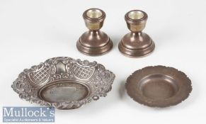 HM Silver Selection incl Victorian style dish hallmarked London 1992, small pie crust dish