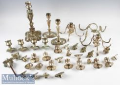 Quantity of Silver Plated Candle Sticks and Accessories incl assorted candle sticks, sconces and