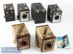 Selection of Kodak Brownie Cameras to include No2 use No 120 film, Model F six-20, Flash B, Flash