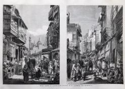 India And Punjab – Street Scenes in Lahore, 1858 an original ILN wood engraving titled Street Scenes