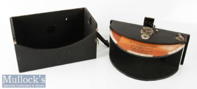 "1902 Kodak Model B No4 Panoramic camera 4"" wide RF, swinging lens, with broken strap by Eastman"