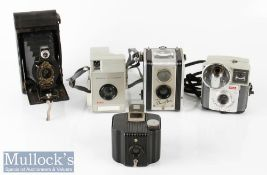 Kodak No2 Autographic Brownie folding camera with ball bearing shutter NoA-120 to reverse,