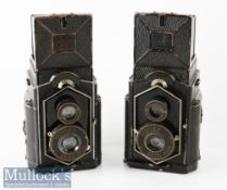 2x Zeiss Ikon Ikoflex TLR cameras both with Novar-Anastigmati 1:6,3 f=80mm (2)