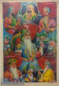 India & Punjab – Maharajah Ranjit Singh Lithograph a fine large rare vintage lithograph of the