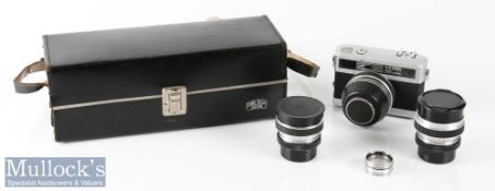 Carl Zeiss Werra Matic 35mm camera and lenses including Zeiss Tessar 2,8/50 Prestor RV, plus