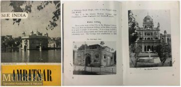 India & Punjab – 1954 Golden Temple Travel Booklet a vintage 1954 See India booklet on Amritsar,