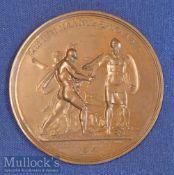 "Russia - Invasion Of Russia ""Napoleon Crosses The Niemen"" 1812 Medallion Large impressive Bronze"