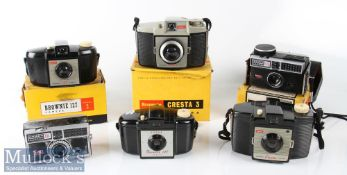 Selection of Vintage Kodak cameras to include Instamatic 304, Instamatic 400 Brownie 127 Model 2