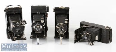 4x Various folding cameras to include Coronet Pat No 346882, Kershaw Eight-20 Penguin, Vario 1:8 F=