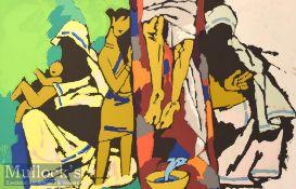 Maqbool Fida Husain (1913-2011) 'Christianity' Signed Limited Edition Colour Serigraph 172/300