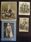 India – Selection of 19th century Original Engravings of Maharajas such as The Nizam of Hyderabad