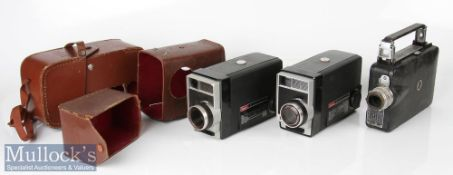 Kodak Cine Magazine camera with Kodachrome 7 magazine together with 2x Kodak 8 movie cameras f/1.9