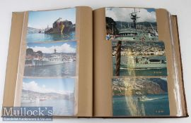 Large Album of Shipping Postcards and Photographs early 20th century to modern cards including