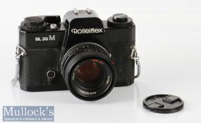 Rolleiflex SL35M 35mm camera 4723890 Planar 1,8/50 Rollei-HFT, with lens cap, made in Singapore