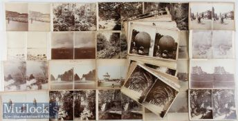 Selection of Assorted Larger Format Stereoview Cards – mostly unnamed makers and scenes of