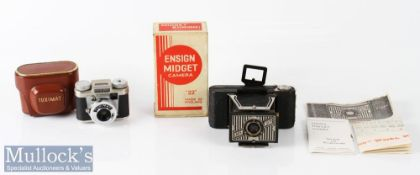 Houghton-Butcher Ensign Midget 22 folding camera appears complete with maker's box, instructions,