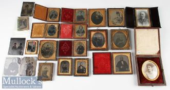 Selection of Victorian Ambrotype, Tintype and other Photographs of various types and subjects incl