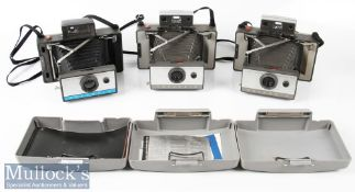 Polaroid 350 and 103 Land Cameras to include 2x examples of each model, all automatic models, plus a