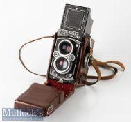 Rolleiflex 1743087 3.5E type 1 TLR camera Franke & Heidecke Zeiss/Planar 1:3,5 f=75mm synchro