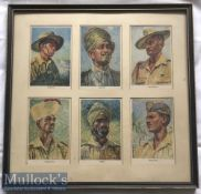 India – WWII Period Indian Army Lithographs Original coloured lithographs showing Types of Indian