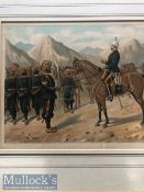 India - Original colour lithograph of a Sikhs of the Punjab frontier force no1 Kohat mountain