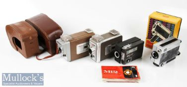 Selection of Kodak Cine/Movie cameras to include Brownie 8mm movie camera II, Brownie Automatic