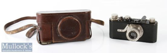 1929 Leica I 20721 camera with Leitz Elmar 1:3,5 f=50mm lens appears with age related wear, with