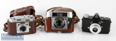 Agfa Karat 36 rangefinder camera Agfa solinar 1:2,8/50 synchro-compur with leather case and strap