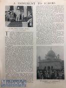 India & Punjab – Opening of Saragarhi Gurdwara fine vintage full page original newspaper article