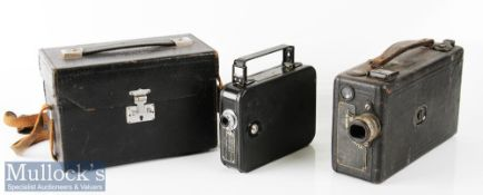 Cine Kodak Model B camera 16mm film numbered 31511 to label, leather exterior, measuring 21x13x7cm
