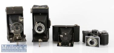 4x Various folding cameras to include Kodak folding Brownie Six-20, Kodak Bantam f:4.5 47mm,