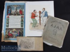 Pencil Jottings from the Ajax as presented at Cambridge 1883 Engravings (8), together with 'Two